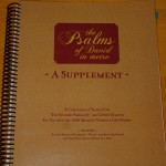 """The Psalms of David in Metre - A Supplement"" (an instruction book)"